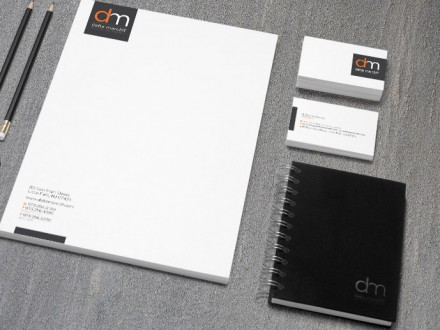 Delta Marcliff Letterhead and Business Card Close Up